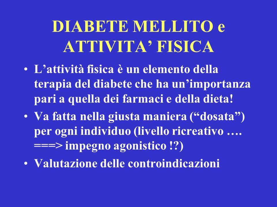 DIABETE MELLITO e ATTIVITA' FISICA
