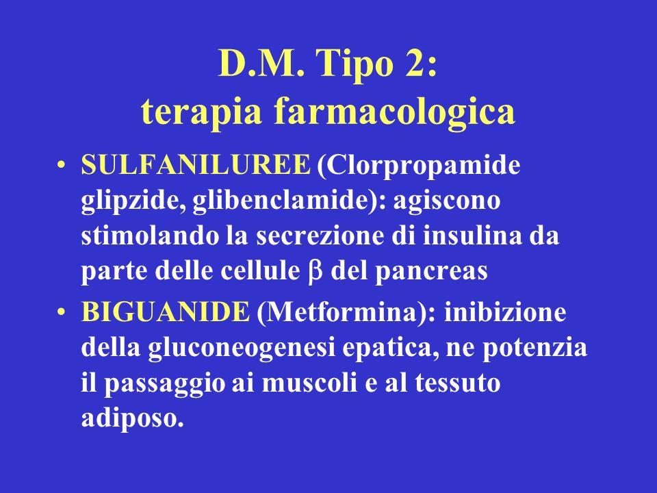D.M. Tipo 2: terapia farmacologica