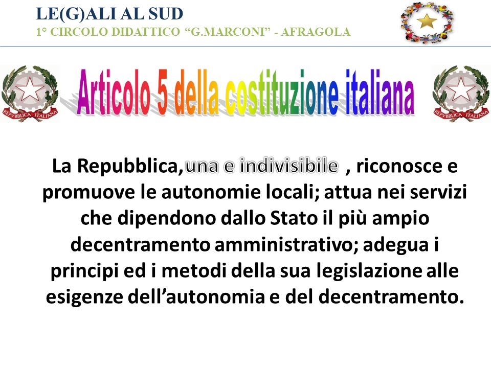 Articolo 5 della costituzione italiana
