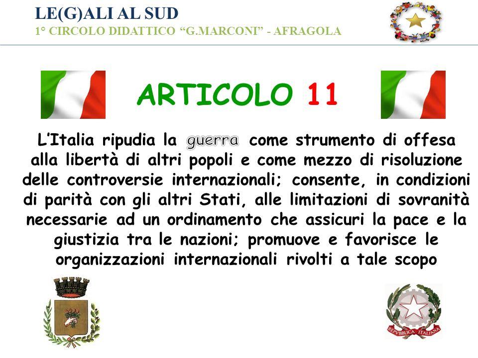 ARTICOLO 11 LE(G)ALI AL SUD