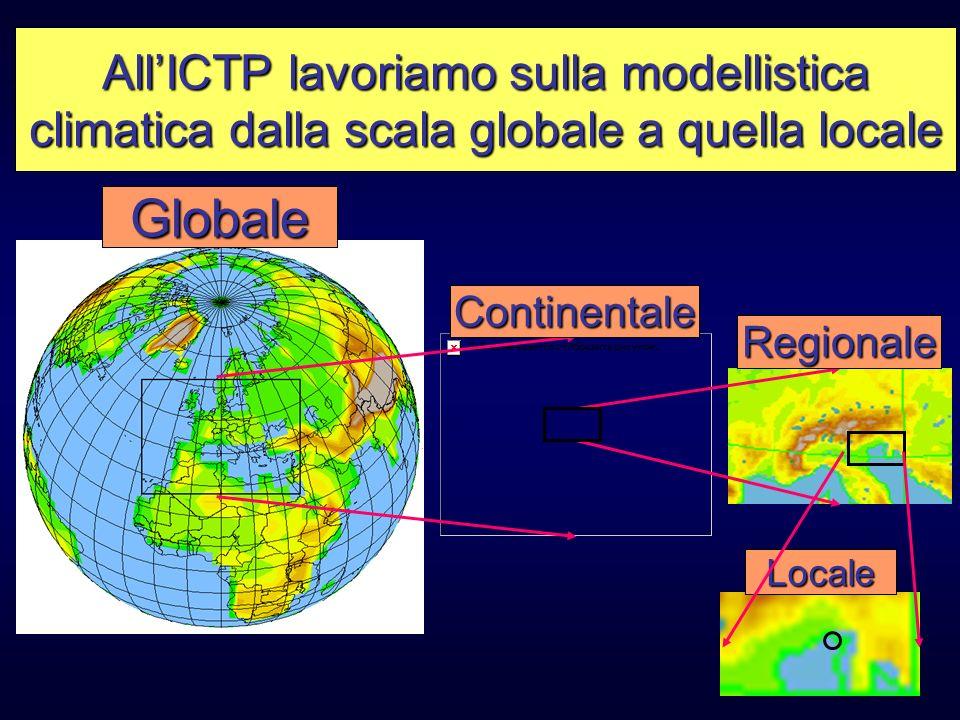 Globale All'ICTP lavoriamo sulla modellistica