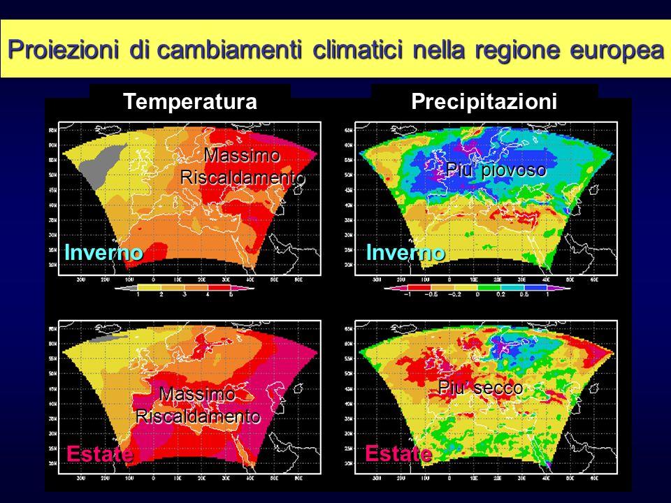 Proiezioni di cambiamenti climatici nella regione europea