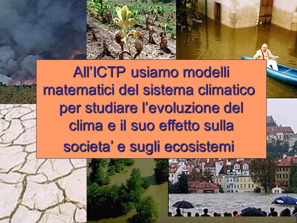 All'ICTP usiamo modelli matematici del sistema climatico
