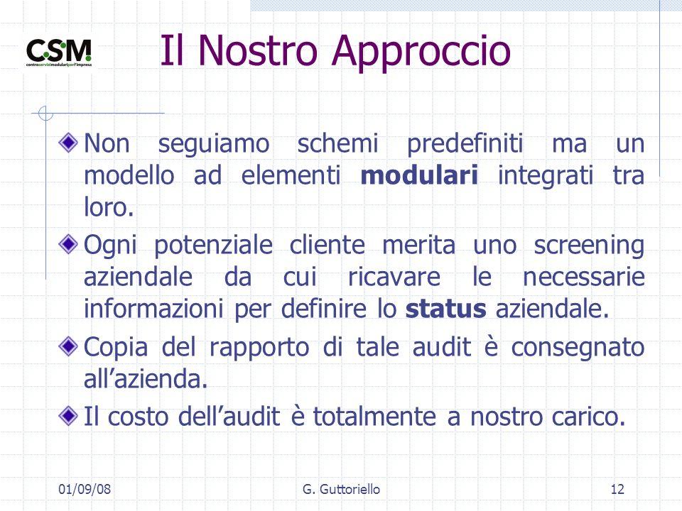 Il Nostro Approccio Non seguiamo schemi predefiniti ma un modello ad elementi modulari integrati tra loro.