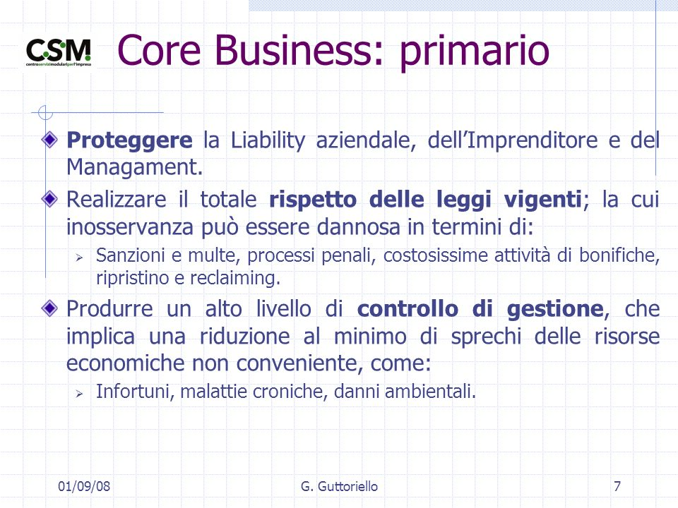 Core Business: primario