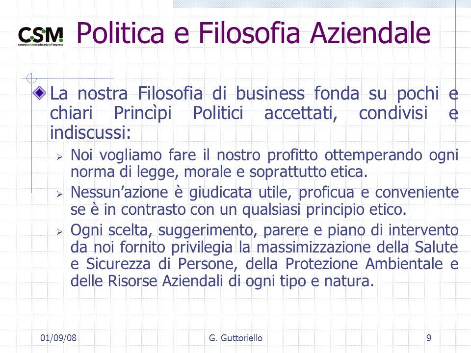 Politica e Filosofia Aziendale