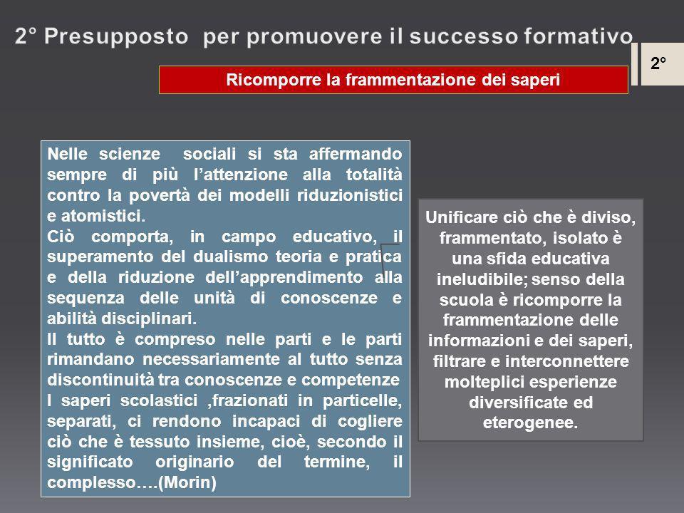 2° Presupposto per promuovere il successo formativo