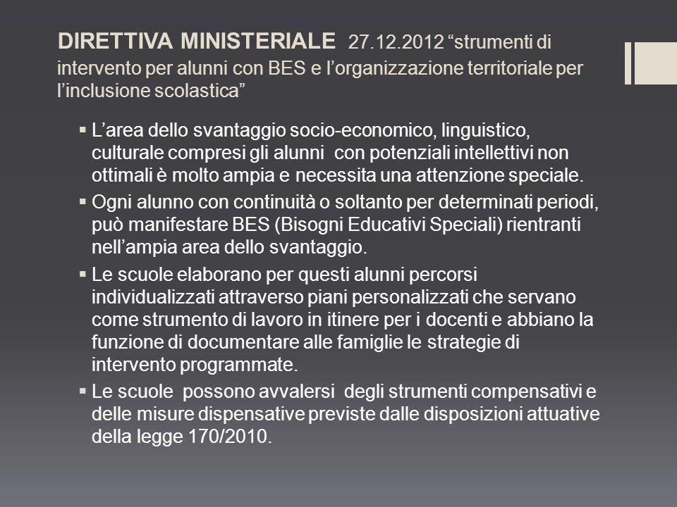 DIRETTIVA MINISTERIALE 27. 12