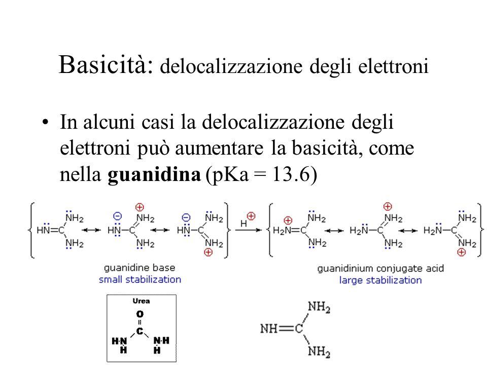 Basicità: delocalizzazione degli elettroni