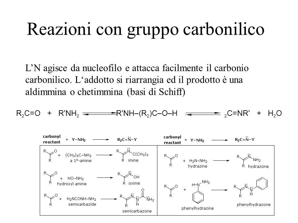 Reazioni con gruppo carbonilico