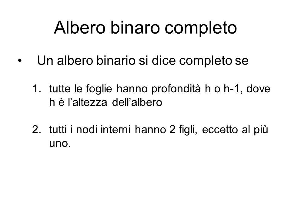 Albero binaro completo