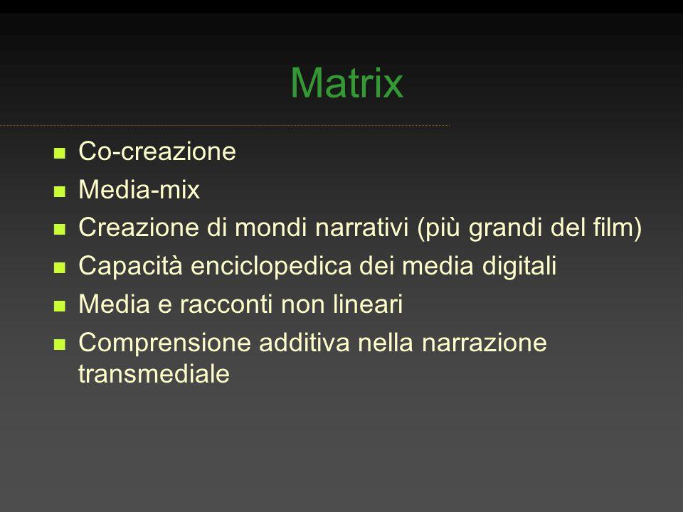 Matrix Co-creazione Media-mix