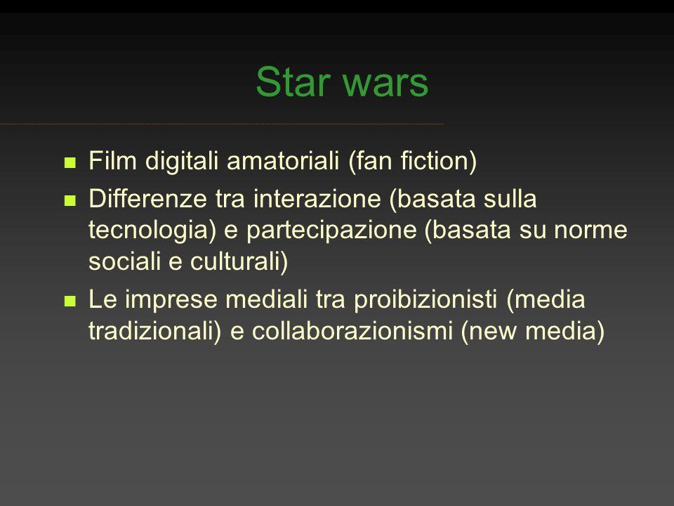 Star wars Film digitali amatoriali (fan fiction)