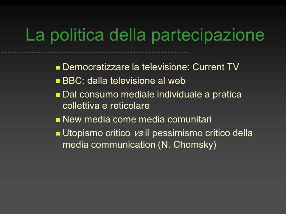 La politica della partecipazione