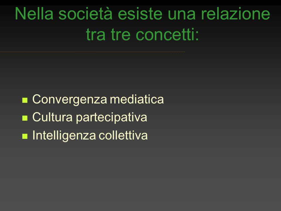 Nella società esiste una relazione tra tre concetti: