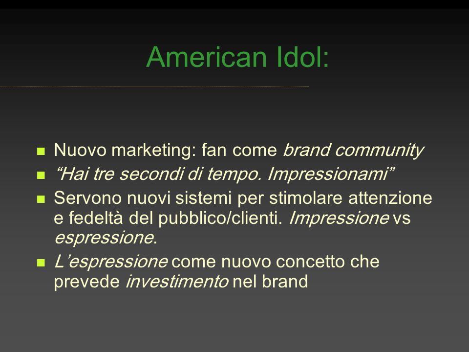 American Idol: Nuovo marketing: fan come brand community
