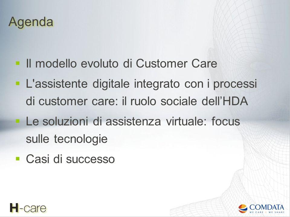 Agenda Il modello evoluto di Customer Care