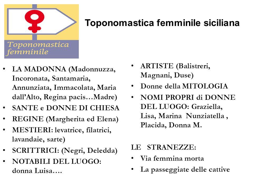 Toponomastica femminile siciliana