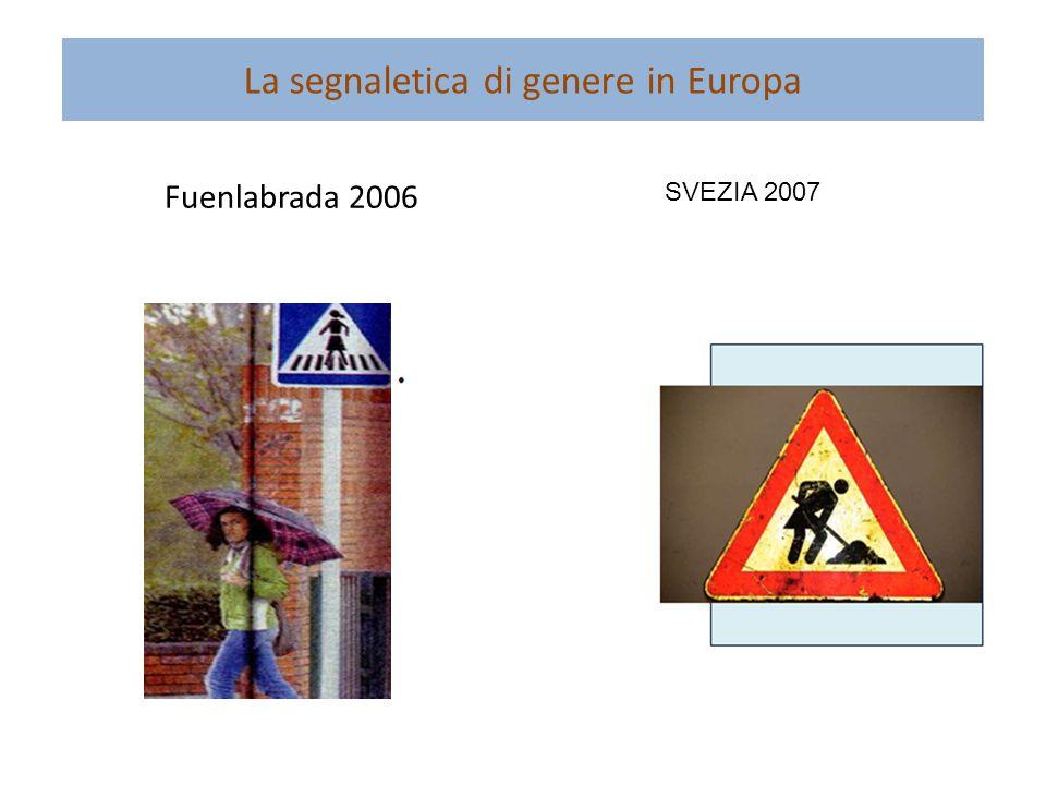 La segnaletica di genere in Europa