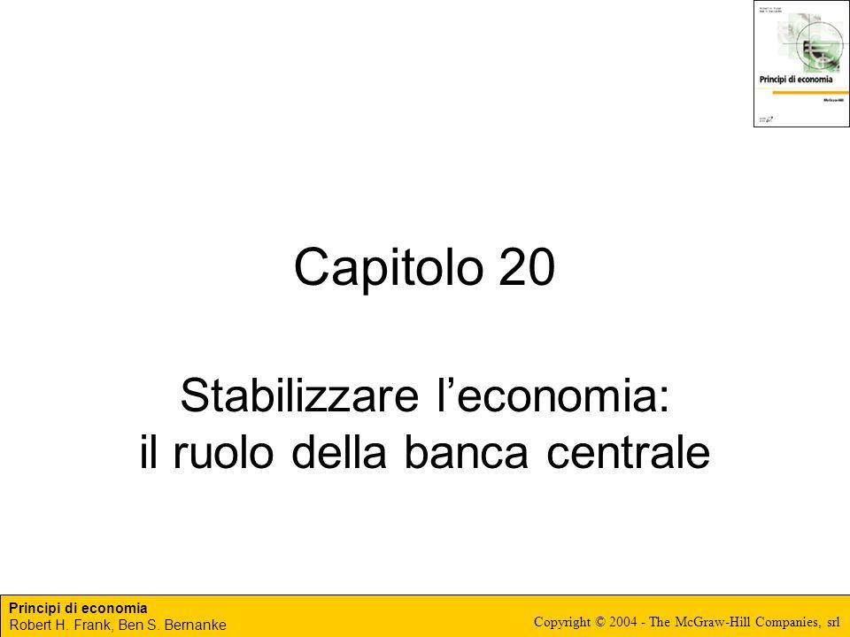 Stabilizzare l'economia: il ruolo della banca centrale