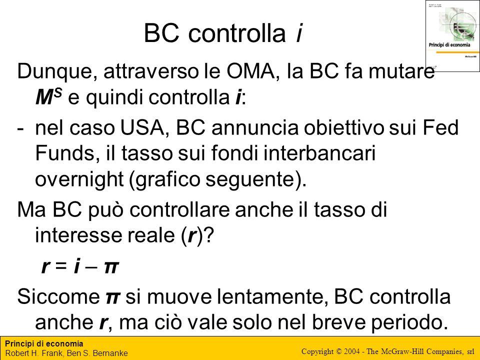 BC controlla i Dunque, attraverso le OMA, la BC fa mutare MS e quindi controlla i: