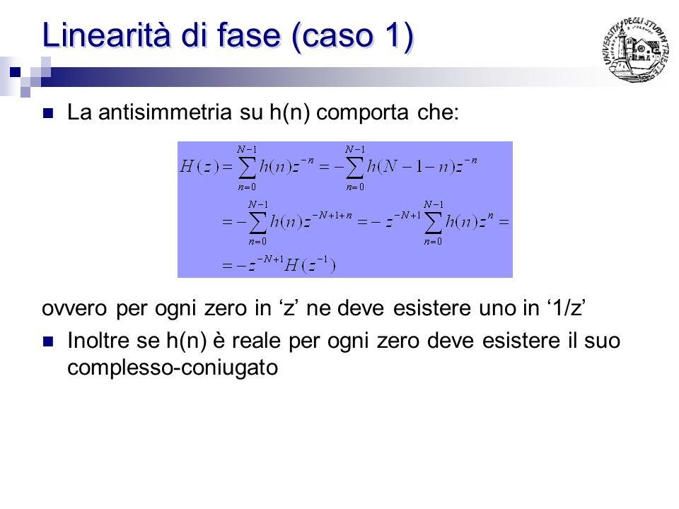 Linearità di fase (caso 1)