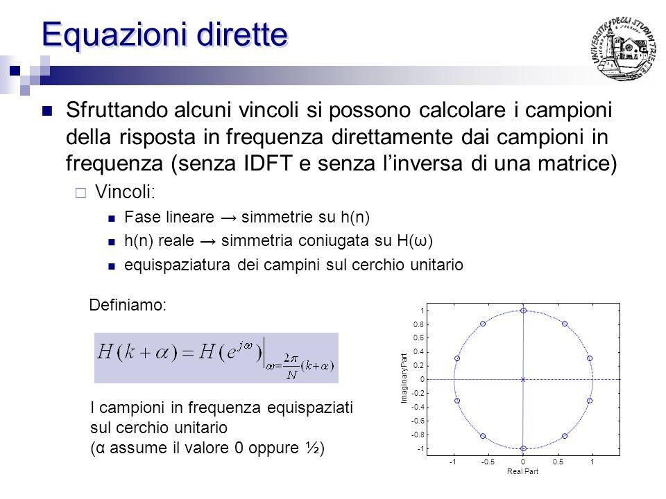 Equazioni dirette