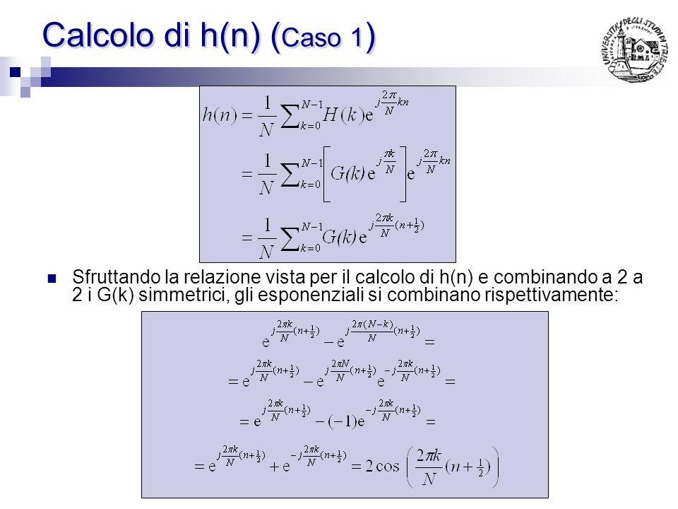 Calcolo di h(n) (Caso 1)