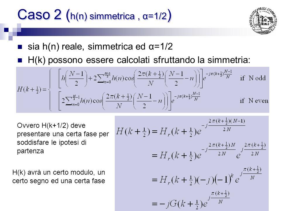 Caso 2 (h(n) simmetrica , α=1/2)