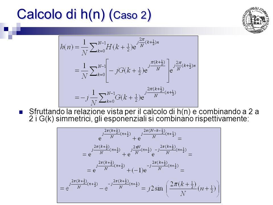 Calcolo di h(n) (Caso 2)