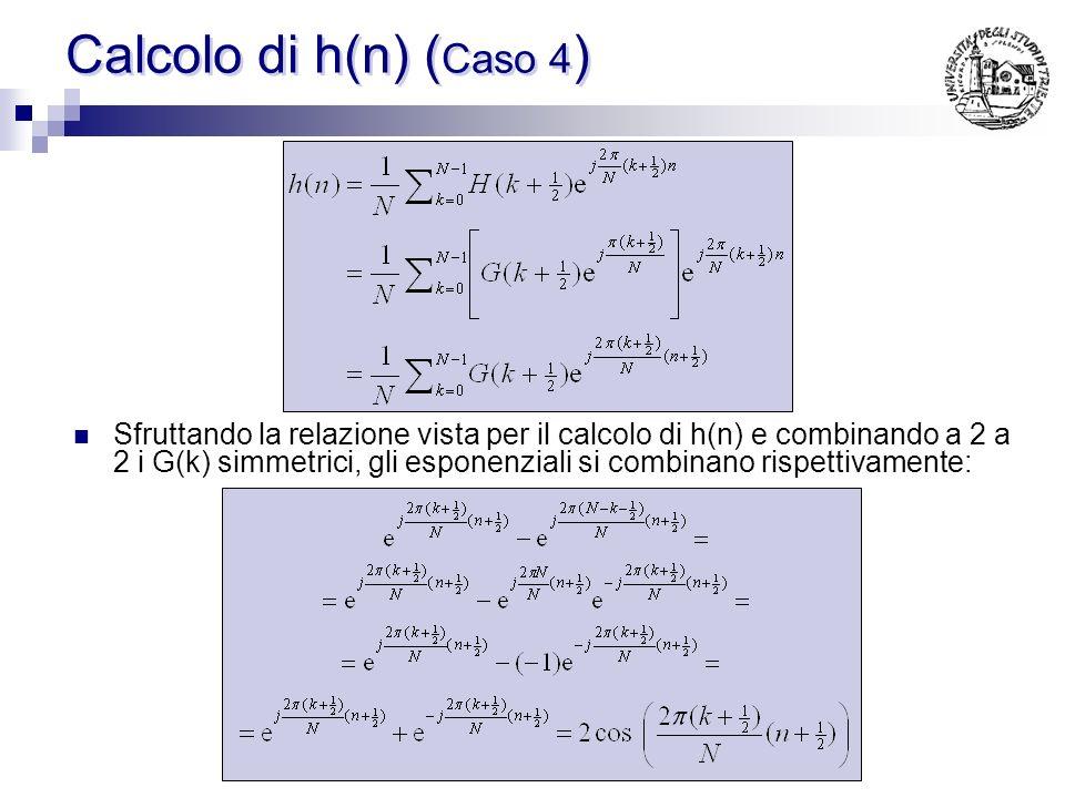 Calcolo di h(n) (Caso 4)