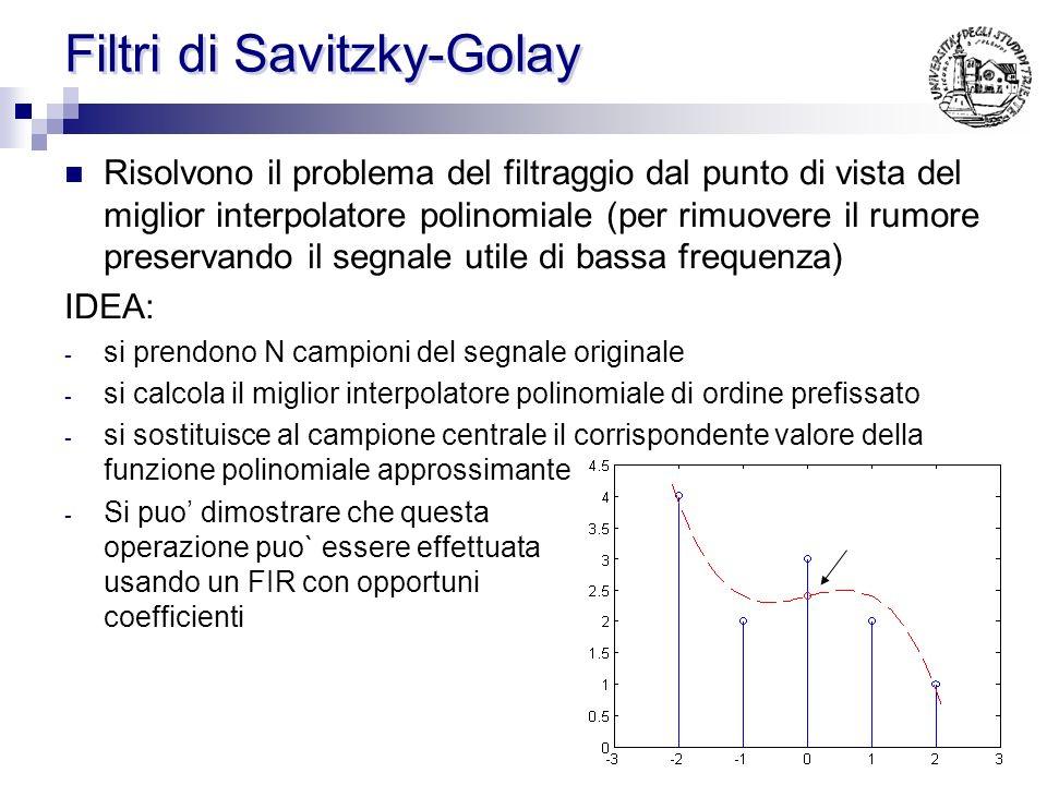 Filtri di Savitzky-Golay
