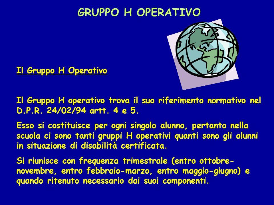 GRUPPO H OPERATIVO Il Gruppo H Operativo