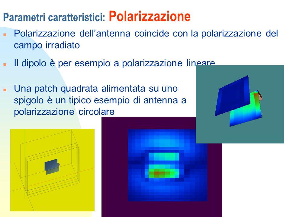 Parametri caratteristici: Polarizzazione