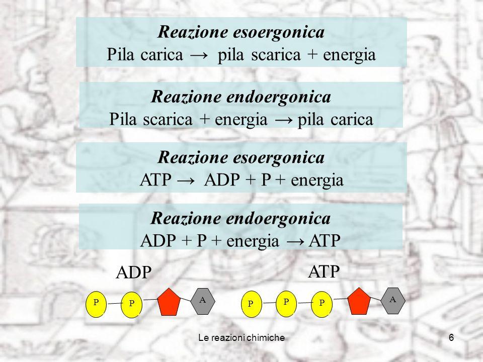 Reazione endoergonica Reazione endoergonica
