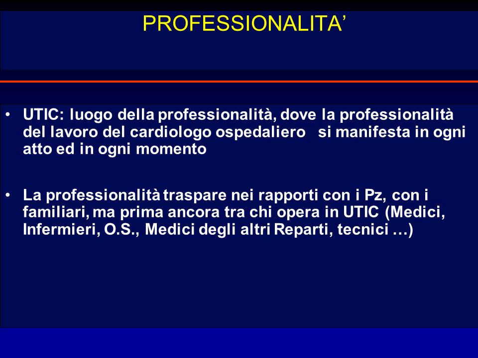 PROFESSIONALITA'