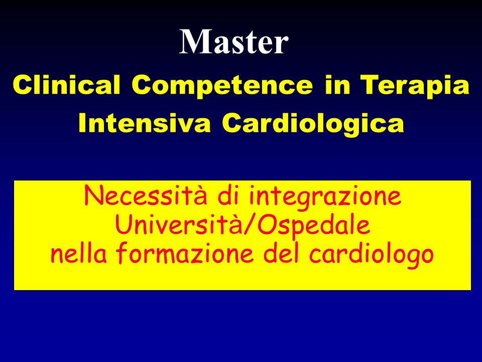 Clinical Competence in Terapia Intensiva Cardiologica