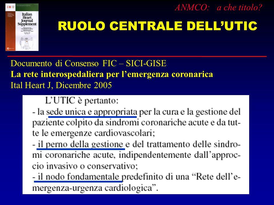 RUOLO CENTRALE DELL'UTIC