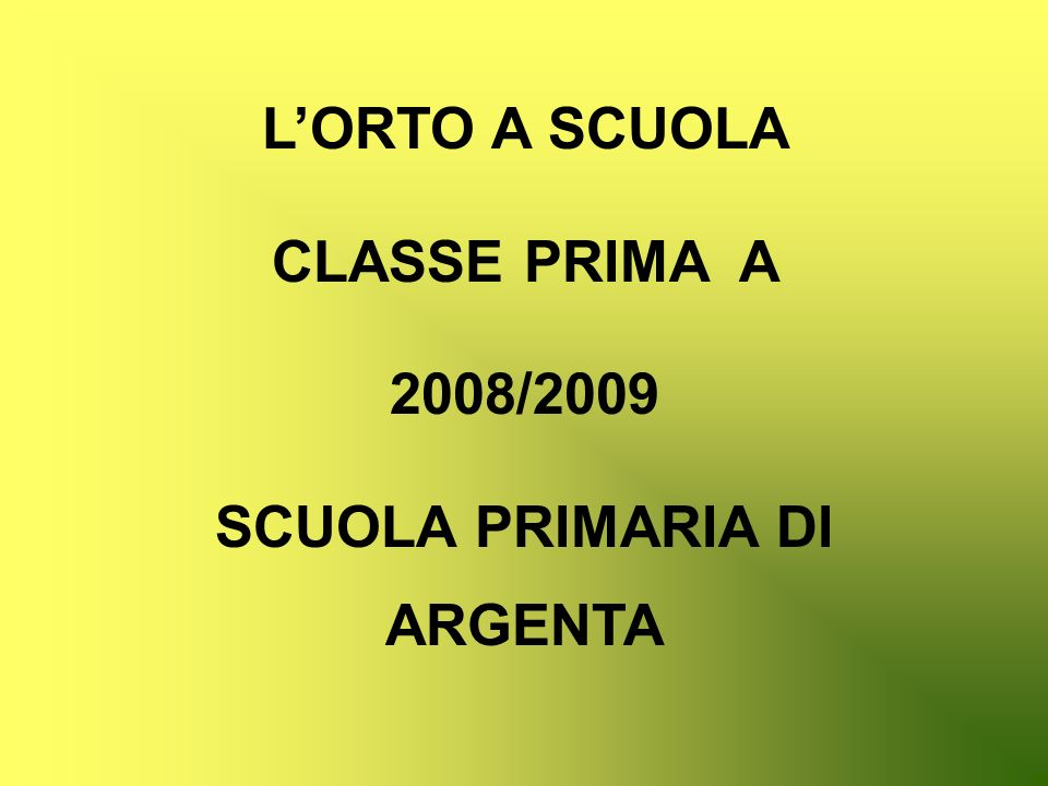 SCUOLA PRIMARIA DI ARGENTA
