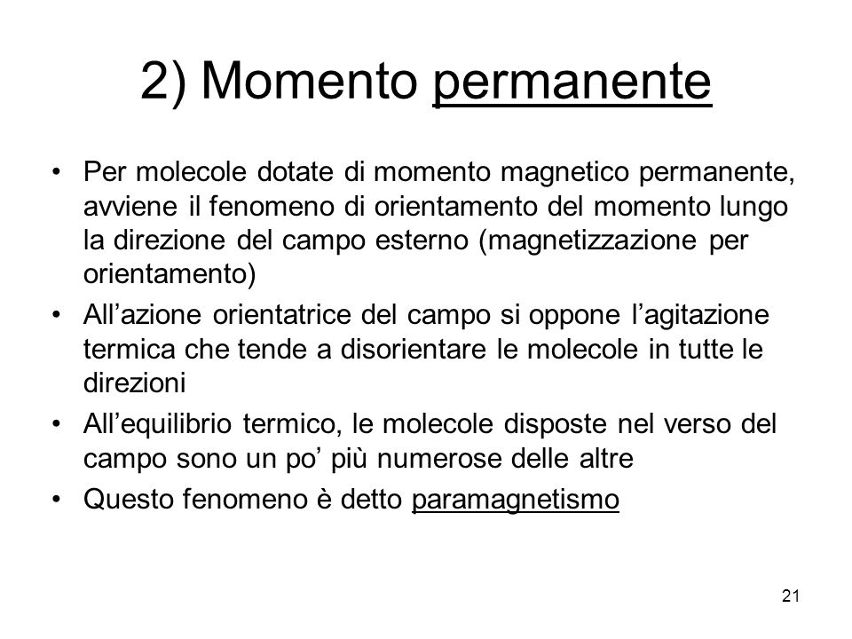 2) Momento permanente