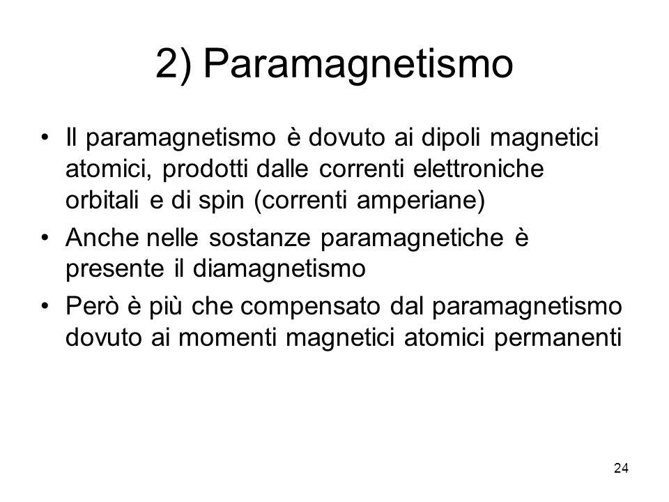 2) Paramagnetismo