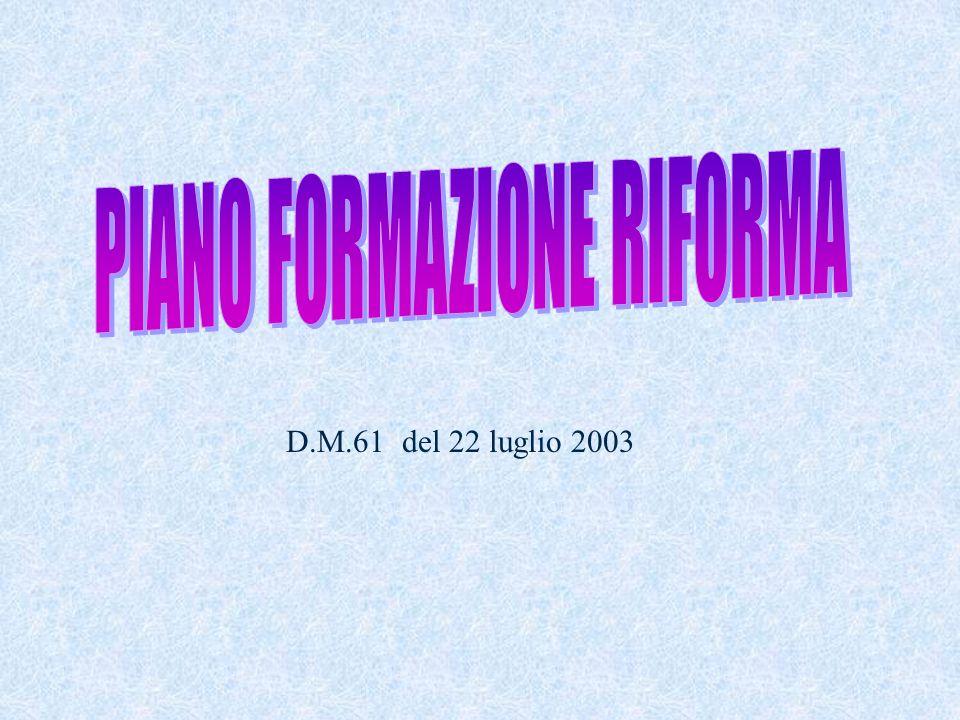 PIANO FORMAZIONE RIFORMA
