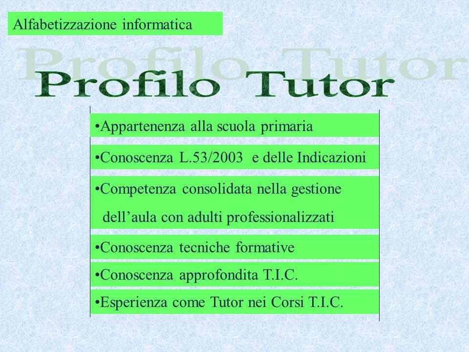 Profilo Tutor Alfabetizzazione informatica