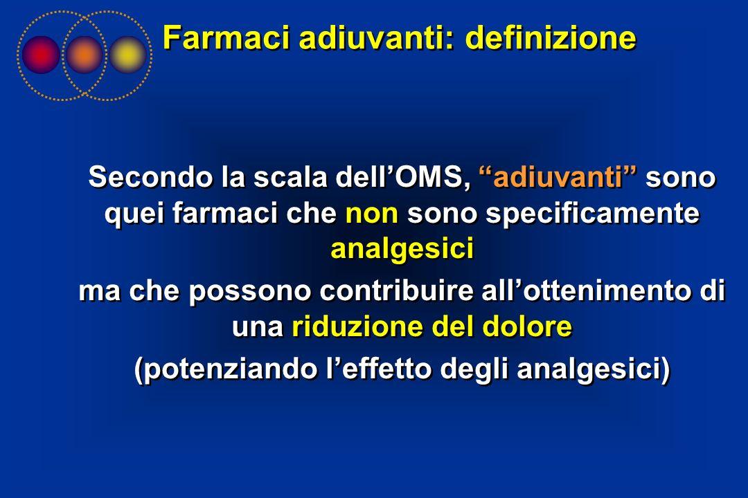 Farmaci adiuvanti: definizione