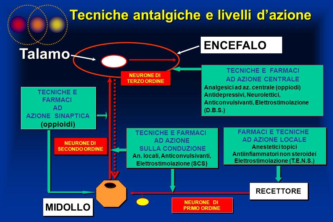 Talamo Tecniche antalgiche e livelli d'azione ENCEFALO MIDOLLO