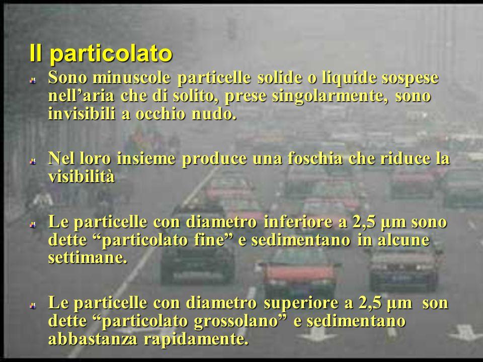 Il particolato Sono minuscole particelle solide o liquide sospese nell'aria che di solito, prese singolarmente, sono invisibili a occhio nudo.