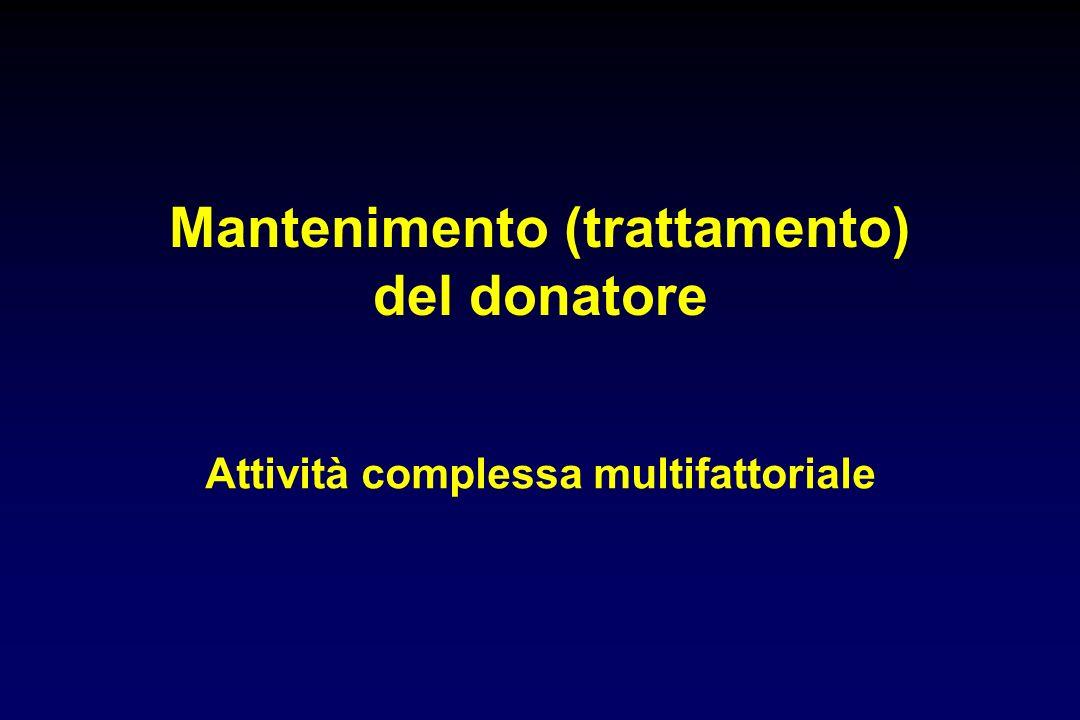 Mantenimento (trattamento) del donatore