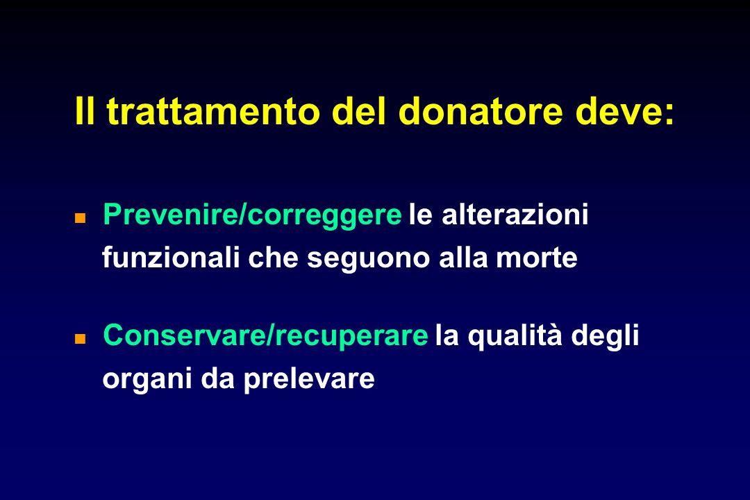 Il trattamento del donatore deve: