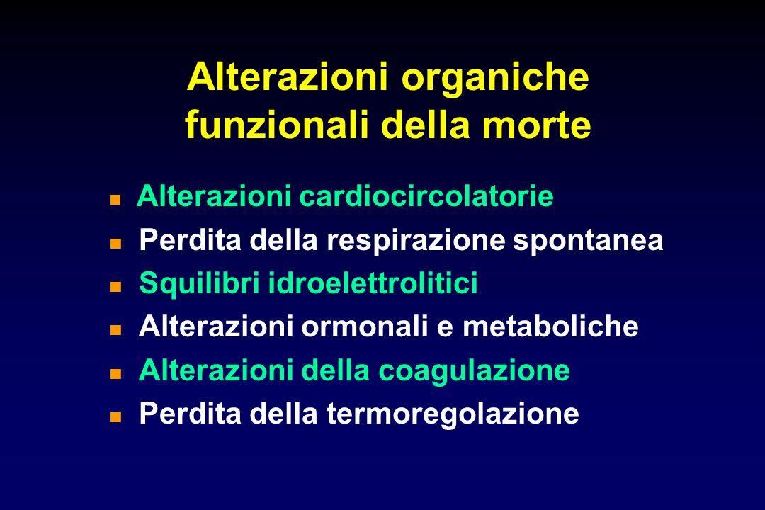 Alterazioni organiche funzionali della morte