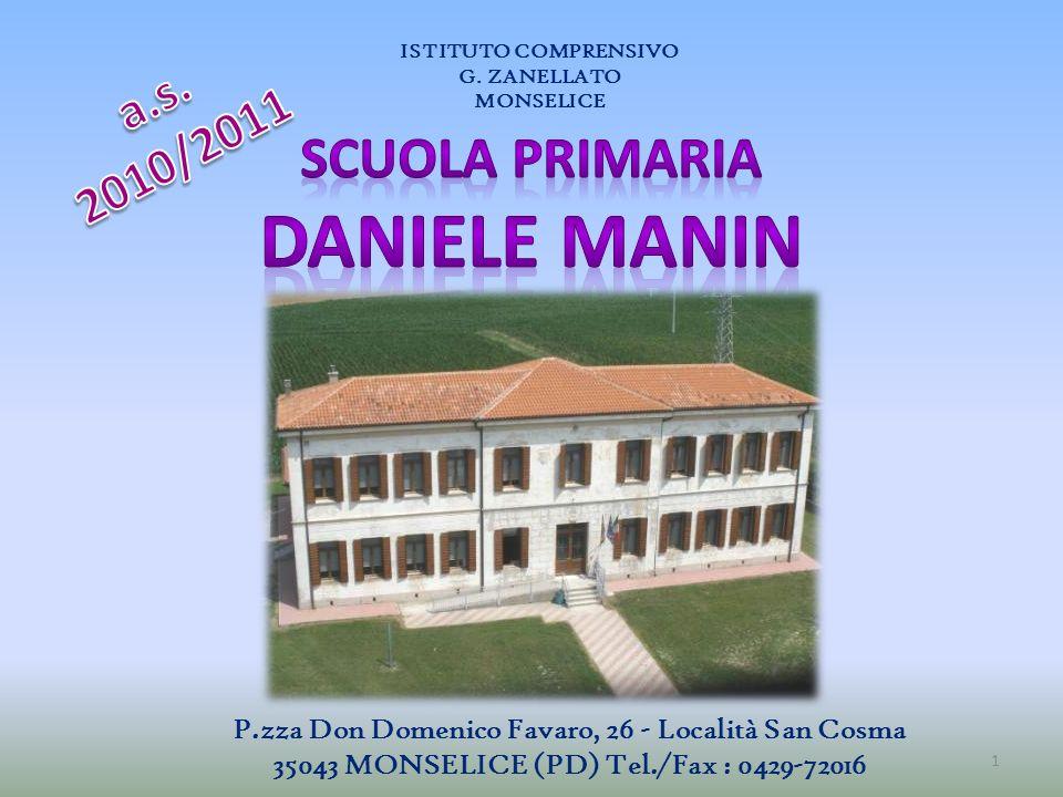 DANIELE MANIN SCUOLA PRIMARIA a.s. 2010/2011
